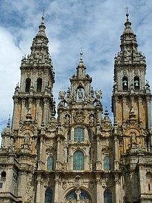 Catedral de Santiago de Compostela, en España