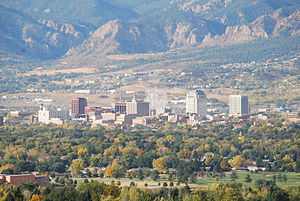 English: Colorado Springs downtown author: cpt...