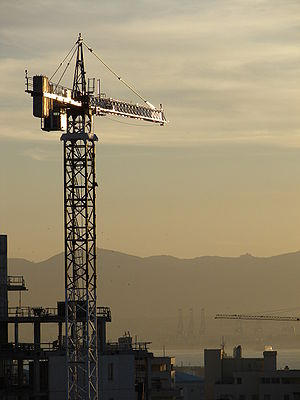 Construction in Gibraltar.