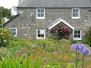English: Cottage garden Chocolate box garden o...