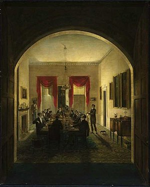 The Dinner Party. about 1821. By Henry Sargent...