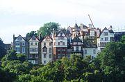 Vista de Old Town desde la Prince Street.