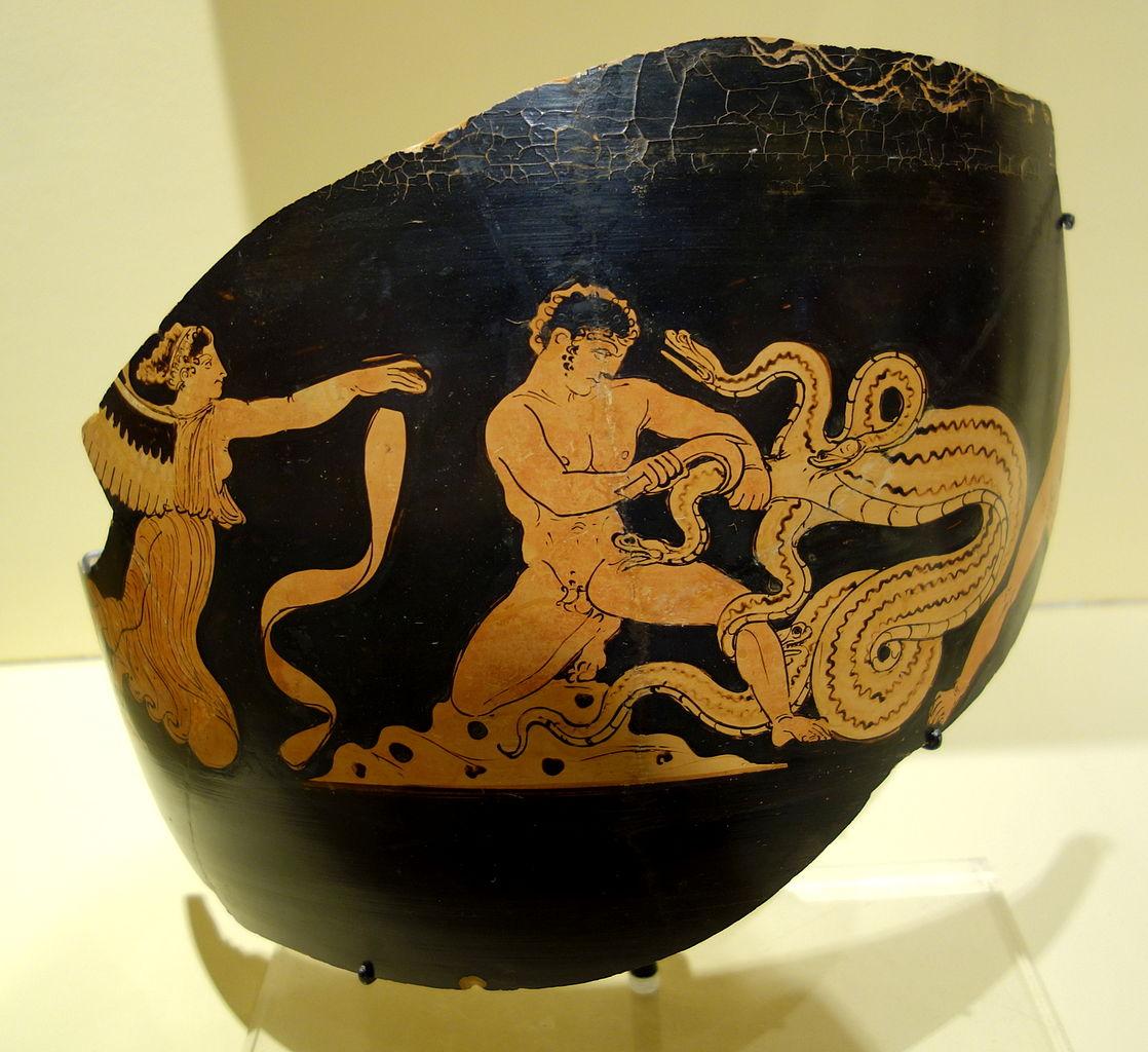 FileFragmentary jar with scene of Herakles slaying the