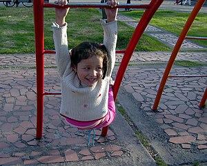 Español: Guiliana moreno Jugando en bogota