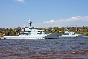 HMS Severn (P282) and HMS Mersey (P283), two R...