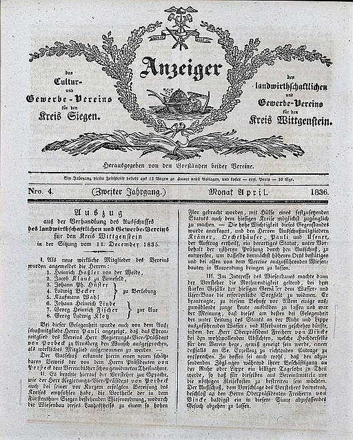 LKV-Zeitung 1836