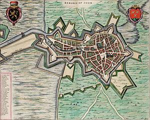 English: Map of Bergen op Zoom