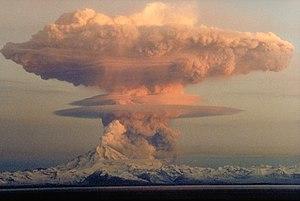 21 April 1990 eruptive column from Redoubt Vol...