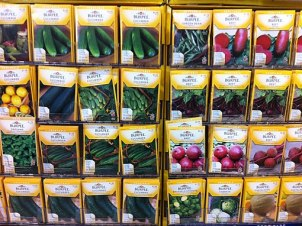 Packets of Vegetable Seeds at Menards