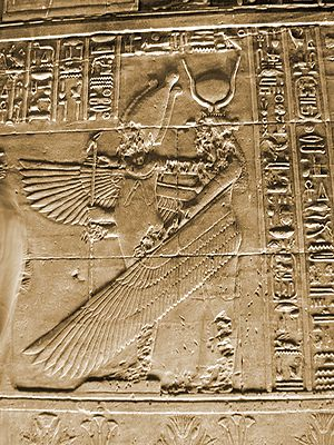 Picture of mural art, relief, showing the Egyp...