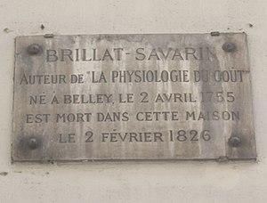 Plaque Brillat-Savarin, 11 rue des Filles-Sain...
