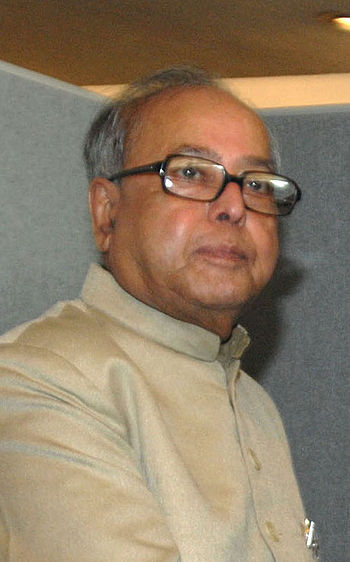 English: Pranab Mukherjee, Indian politician, ...