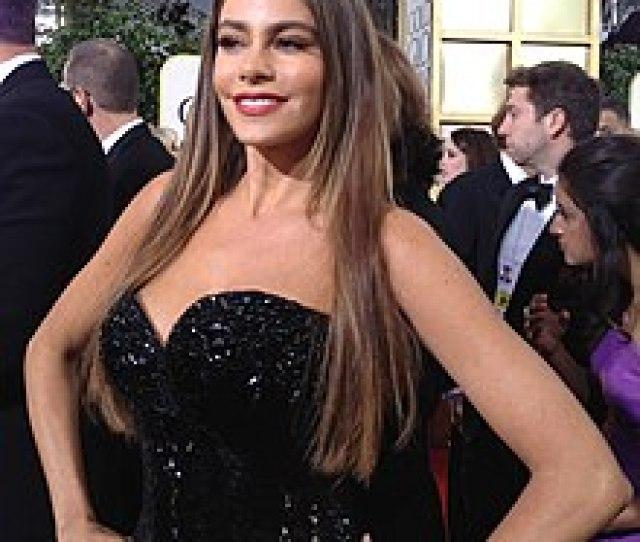 Vergara At The  Golden Globe Awards