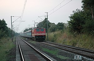 A train near Bhopal, India
