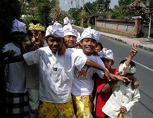 Kids in Ubud, Bali, Indonesia. Taken by User:M...
