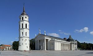 English: Cathedral in Vilnius (Wilno)