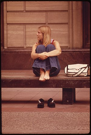WAITING FOR THE BUS-ON NICOLLET MALL - NARA - ...