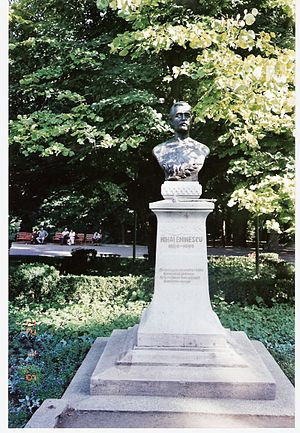 Statue of Mihai Eminescu, Iaşi, Romania