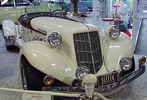 Replica of an Auburn 852 Speedster at the Sins...