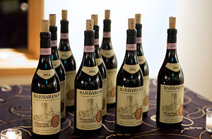 Italian wine made from Nebbiolo in Piedmont
