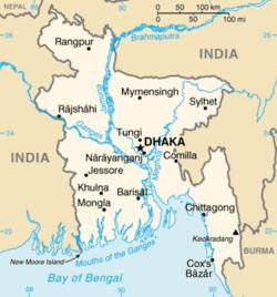 Mapa de Bangladés