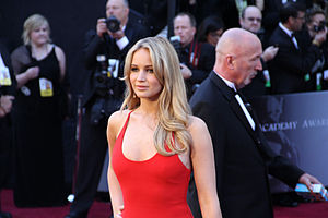 Jennifer Lawrence on the red carpet at the 83r...
