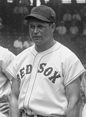 Jimmie Foxx of the Boston Red Sox, cropped fro...