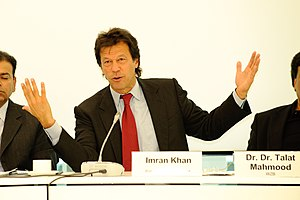 "Imran Khan at the conference ""Rule of Law: The..."