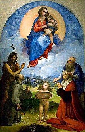 Madonna di Foligno - Raffaello Sanzio da Urbino