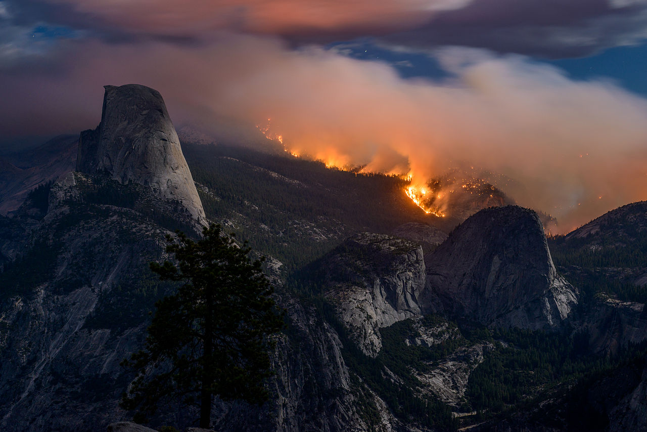 Wallpaper Of Water Fall File Meadow Fire Yosemite National Park Sept 7 2014 Jpg