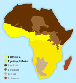 Linguistically, sub-Saharan Africa is dominate...
