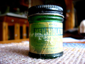 English: Old bottle of AA Hyde's Mentholatum.