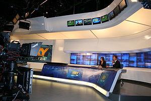 SKY Sport 24 news channel studio in Italy.