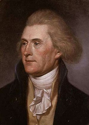 Cropped version of Thomas Jefferson, painted b...