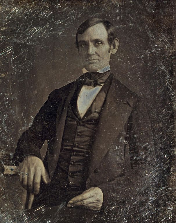 Daguerreotype of Abraham Lincoln 1846 or 47 by Nicholas H. Shepherd