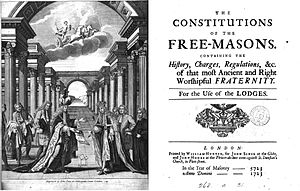 Anderson's Constitutions, 1723