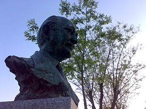 Bust of Antonio Buero Vallejo maked by Luis Sa...