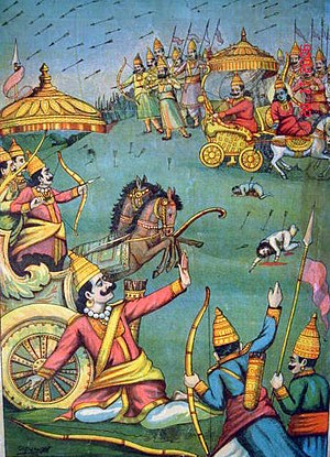 Arjuna's deadly attack on his half-brother Kar...