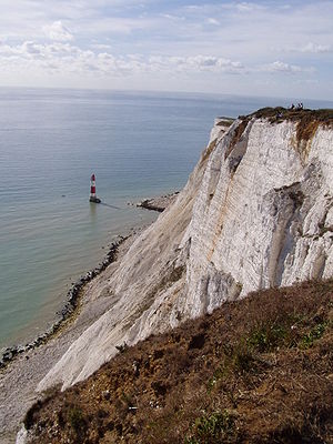 Beachy Head Lighthouse under the cliff, near E...