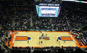 Deutsch: Charlotte Bobcats Arena; NBA Spiel de...