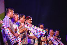 Duterte (third from left) leading the citywide 2015 Torotot Festival