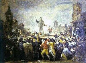 Mot�n de Esquilache, por Francisco de Goya