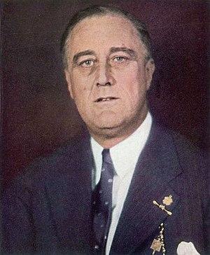 English: Color photo of U.S. President Frankli...
