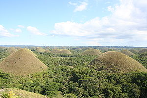 View on the willy wonka Chocolate Hills from t...