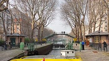 Français : le canal Saint-Martin à Paris, depu...