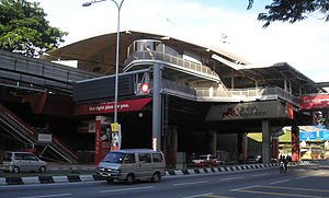 The Maharajalela station (Kuala Lumpur Monorai...