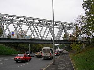 Railway bridge in Băneasa