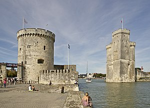 The entry of the old harbor of La Rochelle, Ch...