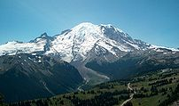 Mount Rainier as viewed from the Sourdough Rid...