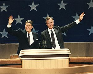 President Ronald Reagan and Vice President Geo...